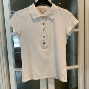 Michael Kors white polo shirt. Size medium